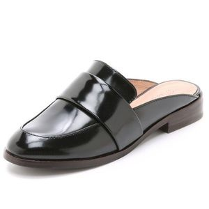 Madewell Dana Patent Leather Slip On Mules (6.5)